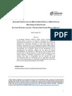 Análisis crítico de los mecanismos para la medición de piratería de software