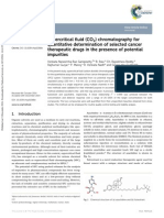 Supercritical fluid (CO2) chromatography for quantitative determination of selected cancer therapeutic drugs in the presence of potential impurities