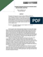 04 JOM 5(2) 2009 Ridwan, Dampak Integrasi Ekonomi Terhadap Investasi