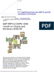 SAP ERP 6.0 EHP6 IDES Install on Oracle and Windows 2008 R2