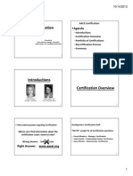 Aacei Certification Roundtable Webinar Handouts Oct 2013