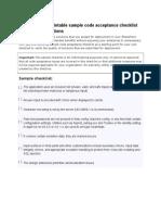 Microsoft CheckList for Development