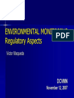 EEnvironmental Monitoring Regulatory Aspects