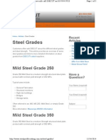 Www.steelprofilecutting.com.Au Steel-grades