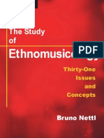 The Study of Ethnomusicology (Bruno Nettl)