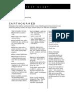 Fact Sheet - Earthquakes