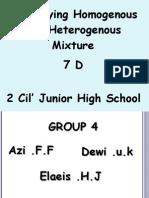 Identifying Homogenous and Heterogenous Mixture 7 D
