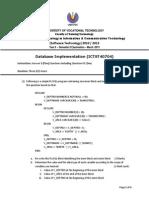 DB Implem FinalExamMar2013