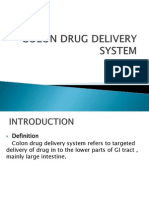 Colon Drug Delivery System