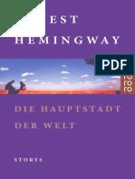 Hemingway, Ernest - Die Hauptstadt Der Welt - Erzaehlungen