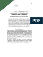 2 MALIK Motivational Preferences of Pharmaceutical Salesfo