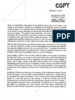 Apuron vs Benavente. 2014.12.17 Joseph Rivera Letter to Archbishop Apuron