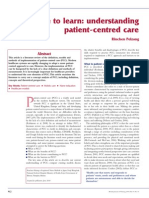 Time to Learn. Understanding Patient Centered Care (1)