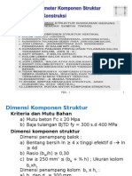 Dimensi Parameter Tulangan Balok-kolom Portal, 16 Hal.