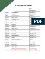 2013-2014 Grade 10 Course Outline