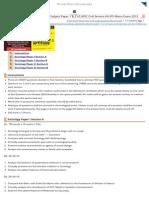 [Download] Sociology Optional Subject Paper 1 & 2 of UPSC Civil Service IAS IPS Mains Exam 2013 - Mrunal