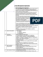 Bus Pass Management Application