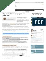 Exportar a Excel Mi Proyecto de AutoCAD _ AndréS Del Toro – Delineante, Consultor y Formador CAD
