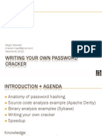 Writing your own password cracker.