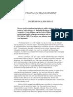 Professionalism in Public Relations