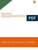 Evaluación Gobierno Chileno Oct 2014