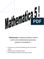 Front Page for Mathematic 5