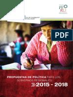 Cies_propuestas Políticas Para Los Gobiernos Regionales