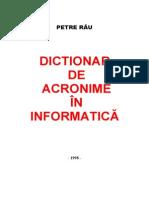 Dictionar de acronime in informatica