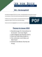 Becker von Buch Newsletter - KMU Beratungsbrief