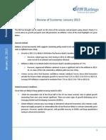 RBI Review of Economy Jan 2013