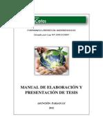 Manual de Elaboración y Presentación de Tesis - Universidad San Carlos de Paraguay