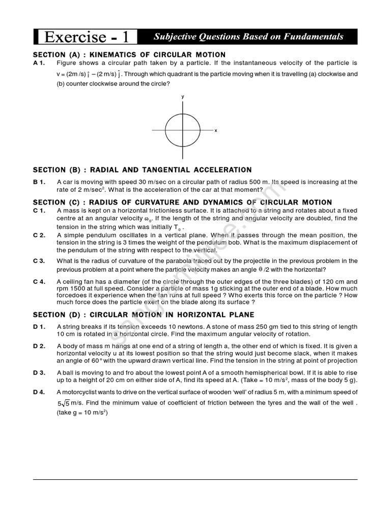 Circle And Find The Measurement Of The Diameter Or Radius Sangram Classes  Circular Motion Iit Jee