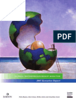 Gem Global Entrepreneurship Monitor Report 2007
