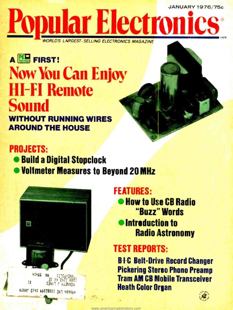 Pe197601pdf Loudspeaker Electronic Engineering Light Laser Led Gt Circuits Running Message Board Cd4017