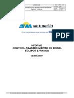 1 _Informe de Consumo de Diesel Equipos Livianos Mes Mayo - Junio 2014