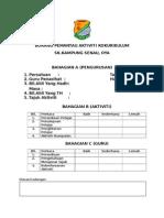 Borang Pemantau Aktiviti Kokurikulum 2014
