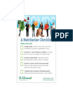 Nutritarian Checklist Gbombs Printable