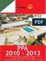 PLANO PLURIANUAL ( PPA 2010-2013 ) DE FORTALEZA