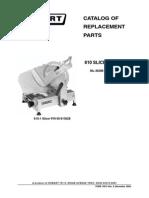 Hobart Model 610 Slicer Parts Manual