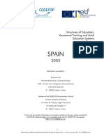 Educacion en Espana - Ingles