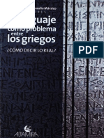 El Lenguaje Como Problema Entre Los Griegos- Cómo Decir Lo Real