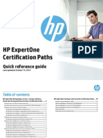 HP ExpertOne Certification Paths