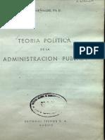 Teoria Politica de La Administracion Publica