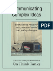 Communicating Complex Ideas on Think Tanks