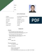 Curriculum Jose Arreglado