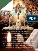 La Santa Misa segn los Santos.key