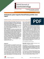 Case Report Negative Rusell Body Gastritis