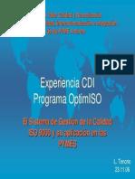 Seminario Taller Calidad y Normalización para la Competitividad, Internacionalización e Integración para la Competitividad, Internacionalización e Integración de las PYME Andinas de las PYME Andinas