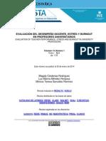 Evaluacion Desempeno Docente Estres Burnout Profesores Universitario Cardenas Mendez Gonzalez