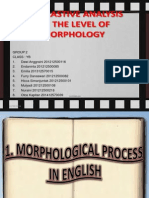 Contrastive Analysiz on the level of Morphology